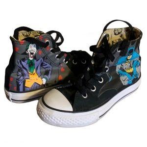 Converse Batman and Joker Sneakers - Boy's Size 12